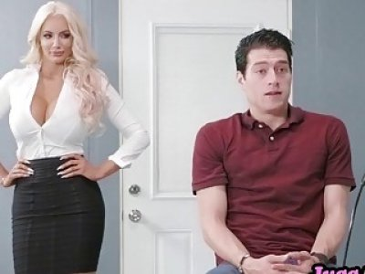 Hot blonde Nicolette Shea mind blowing