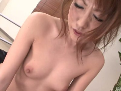 Slim Japanese girl Kurachi Rika rides her lover intensively