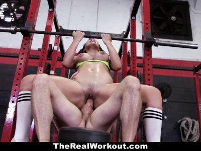 TeamSkeet Fat Ass Teen Fucked on Leg Day