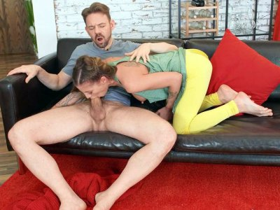 Silvia Dellai is sucking Erik Everhard's cock