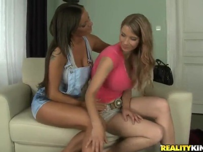 Katerina and Shelia Grant showing off their big tits