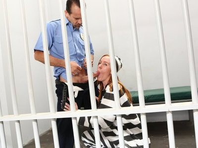 Getting favors from the prison guard