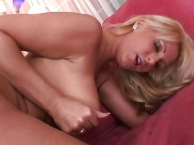 Blond young girl yells while she fucks pt 1
