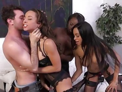 Three Horny Black Babes Crave Some White Dick