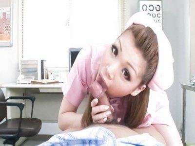 Cute nurse Ayumi Kobayashi makes a housecall with an unexpected result