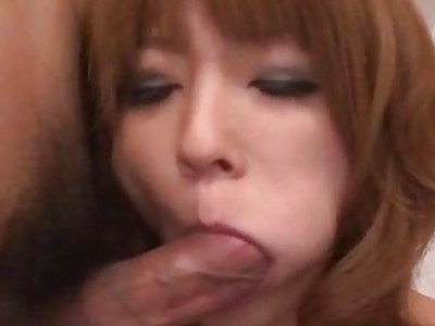 Rika Aina Asian milf fucked by two hunks
