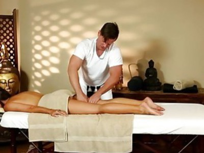 Poor beauties banged hard in special masseur